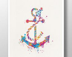 watercolor anchor. This would be so awesome as a tattoo
