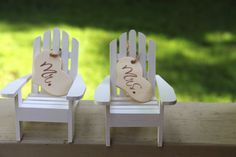 Mr. And Mrs. Adirondack Chair Cake Toppers Set Of Two Chairs