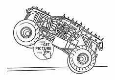 monster truck max d coloring page for kids transportation coloring pages printables free wuppsy