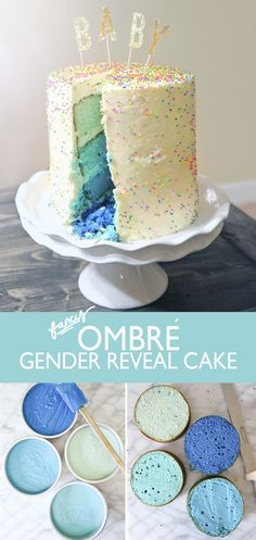We love the idea of a gender reveal cake! Particularly as you get to eat it afterwards...