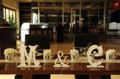 #wedding head table couple's initials