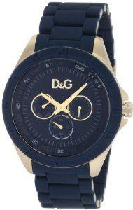 D Dolce & Gabbana Men's DW0779 Chamonix Yellow Gold Blue Dial Blue Bracelet Watch,$250.00