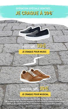 Les chaussures André s'achètent aussi en ligne! Retrouvez les collections de chaussures pour femme et homme ainsi que toute la maroquinerie sur Andre.fr!