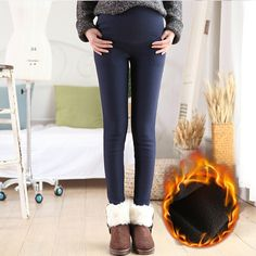 59.74$  Buy here - http://alieot.worldwells.pw/go.php?t=32754734492 - Winter Maternity Pants Thick velvet Warm Cotton Trousers For Pregnant Women Pregnancy Legging Pencil Jeans Belly Pants P19 59.74$
