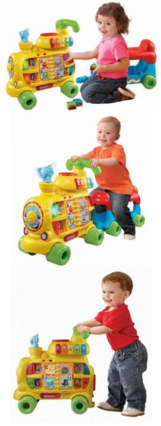The Vtech sit-to-stand alphabet train. Best toy ever!