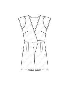 burda style, burda style Magazin Schnitt, Kurzoverall 05/2013 #129A, Kurzer Overall mit Oberteil in Wickeloptik. Sie brauchen: Viskose-Lavabel, 140 cm breit: 2,05 – 2,05 – 2,10 – 2,15 – 2,20 m. Gummiband, 1 cm breit: 0,40 – 0,45 – 0,45 – 0,50 – 0,50 m. Stoffempfehlung: Leichte Stoffe. Style Magazin, Peplum, Fashion, Dressmaking, Tops, Fabrics, Moda, Fashion Styles, Veil