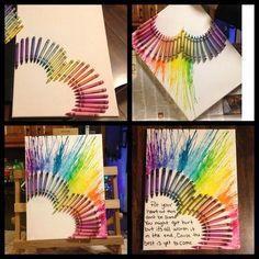 Melted Crayon Art Heart.
