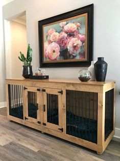 Wooden Dog Crate, Diy Dog Crate, Wooden Crates, Wine Crates, Dog Crate Beds, Dog Crate Table, Crate Desk, Double Dog Crate, Large Dog Crate