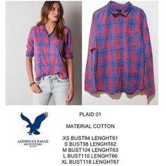 American Eagle Plaid 01 shirt IDR 150k