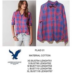 American Eagle Plaid 01 shirt IDR 150k