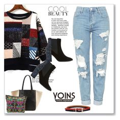 """""""Yoins 5"""" by miincee ❤ liked on Polyvore featuring Topshop, Dune, yoinscollection and loveyoins"""
