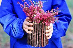 Eine tolle #Vase aus #Stöcken