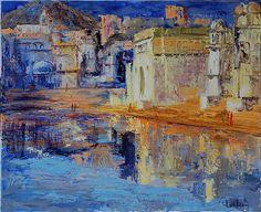 Hervé Loilier (French, b. 1948) - ''Le Lac de Pushkar''