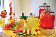 Colorful drink bar