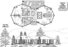 Classic Collection CM-0301 (1500 sq. ft.) 2 Bedrooms, 2 Baths by Topsider Homes #houseplan #homedesign