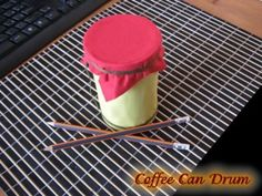 How to Make a Coffee Can Drum - homemade musical instrument craft for kids