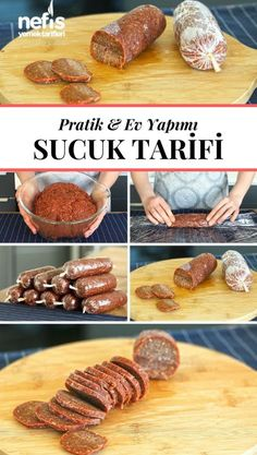 How is sausage made? (With Stretch Film - In the Freezer) - Delicious Recipes - Video lecture How To Make Sausage? (With Stretch Film – In the Freezer) The video narration of th - Meat Recipes, Cooking Recipes, Healthy Recipes, Delicious Recipes, Food Design, Minced Meat Recipe, Good Food, Yummy Food, Wie Macht Man