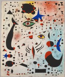 Joan Miró Spanish, 1893-1983  Ciphers and Constellations in Love with a Woman,