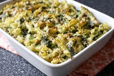 Baked Pasta with Broccoli Rabe and Sausage—great recipe for a cold, fall night.