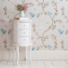 Provencal Round White Bedside Table|Bedside Tables|Tables|French Bedroom Company