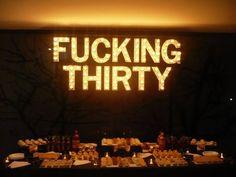 Light sign over dessert table 30th birthday Rentas y cotizaciones: elopezparedes@gmail.com