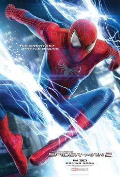 The Amazing Spiderman 2 Movie Poster Andrew Garfield, Jamie Foxx Spider Man 2, Man Movies, Good Movies, Amazing Movies, Movies Free, Cinema Movies, Marvel Dc Comics, Marvel Heroes, Poster Marvel