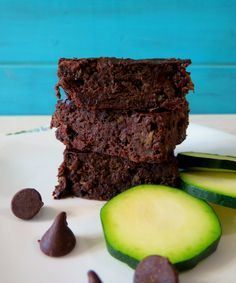 Chocolate Zucchini Beanie Brownies - A moist, chocolaty, rich, gluten free brownie filled with chocolate chips and zucchini.