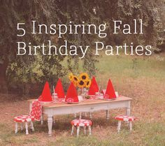 5 Inspiring Fall Birthday Parties | Disney Baby