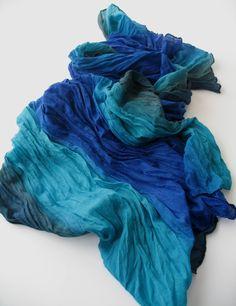 Heathered Sea Blue Scarf - Casual stripes - Long Scarf -Trendy Fabric Scarf - Shawl Scarf. $15.90, via Etsy.