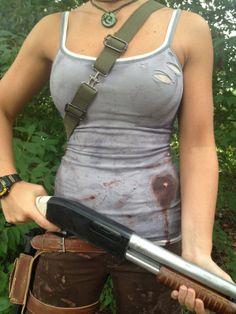 Lara Croft Set of Distressed Tank Tops by AnotherLittleShop, $59.00