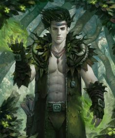 Human Male Druid - Pathfinder PFRPG DND D&D d20 fantasy