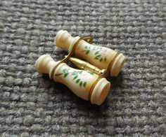 RESERVED 1920s Antique STANHOPE Miniature Bone BINOCULARS Novelty Charm…