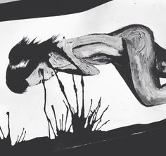 'The purge' by Sarah Louise Johnson  Crying, twin flames, spiritual art