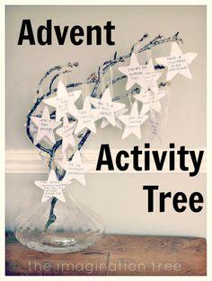 The Imagination Tree: Advent Activity Tree! Christmas Countdown, Family Christmas, Winter Christmas, All Things Christmas, Christmas Holidays, Christmas Tables, Nordic Christmas, Modern Christmas, Advent Activities