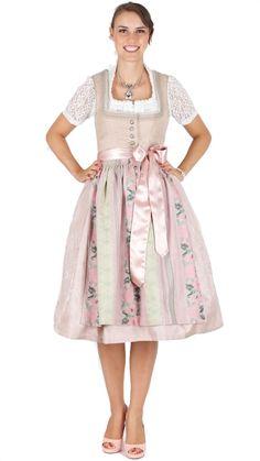 Dirndl Rose, Midi Skirt, Beige, Skirts, Vintage, Medium, Style, Fashion, Oktoberfest