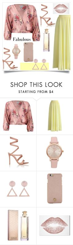 """""""Fabulous 💋💋"""" by mary2003 ❤ liked on Polyvore featuring Sans Souci, Chicwish, Gianvito Rossi, Vivani, Tory Burch, TOUS and Oliver Gal Artist Co."""