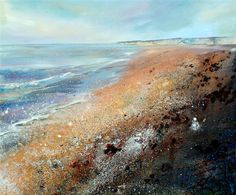 Sussex Shore II Acrylic on canvas 120 x 100cm  2013. Lorna Holdcroft