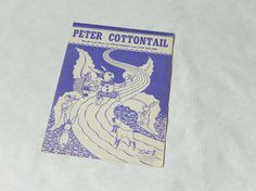Vintage Peter Cottontail Sheet Music by Steve by LeasAtticSpace
