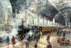 Up from the West by Christopher Jarvis Train Posters, Railway Posters, Train Pictures, Art Pictures, Steam Art, Old Steam Train, Cartoon Art Styles, Train Art, Train Engines