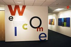 Environmental graphics and signage design for eHarmony's corporate office Office Wall Design, Office Wall Art, Office Walls, Office Interior Design, Office Interiors, Office Decor, Environmental Graphic Design, Environmental Graphics, Office Wall Graphics