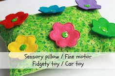 Spring Field Sensory Activity Pillow Easter Toy by TickleUp