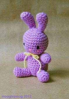 Amigurumi Pink Bunny OOAK by moogleymog on Etsy, £6.00 https://www.etsy.com/listing/99803501/amigurumi-pink-bunny-ooak