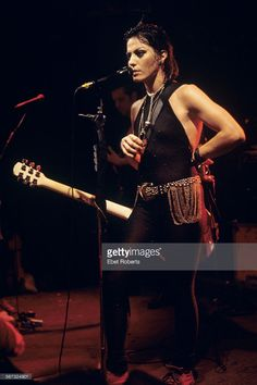 Joan Jett performing at CBGB's in New York City on December 17, 1993.