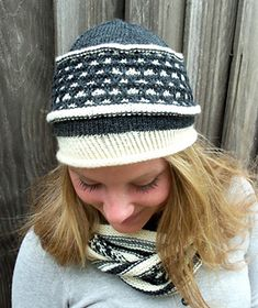 A simple and easy beanie, knit from the bottom up/ in the round, Bea features a slip-stitch pattern using only one color at a time per row, with a twisted knit stitch in the brim to keep it snug fitting where it counts. Three sizes available.