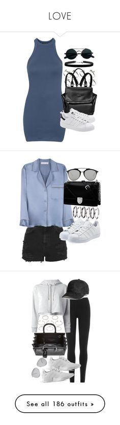"""LOVE"" by thestyleobsessions ❤ liked on Polyvore featuring Topshop, ASOS, Givenchy, adidas Originals, Alessandra Mackenzie, Christian Dior, M.N.G, DKNY, adidas and Yves Saint Laurent"