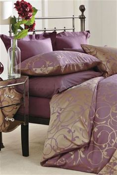 Buy Plum & Gold Scroll Jacquard Bed Set from the Next UK online shop
