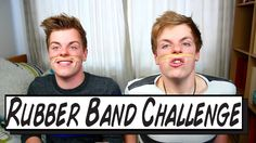 Rubber Bands + Challenge = a lot of pain and irritation! We hope you enjoy it! Best Youtubers, Rubber Bands, Hope You, Twin, Challenges, Facebook, Twitter, Videos, Music