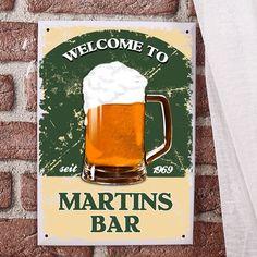 Bar-Schild | für Hobbybar mit Namen