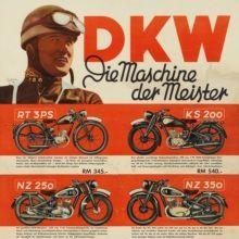 Signiertes Werbeplakat für DKW Motorräder, 1938/39                                                                                                                                                      Mehr