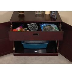 meow town mdf litter box. Amazon.com : Meow Town MDF Litter Box Cat Cabinet, Mahogany Enclosed Mdf W